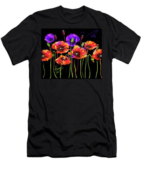 Poppies Men's T-Shirt (Slim Fit) by DC Langer