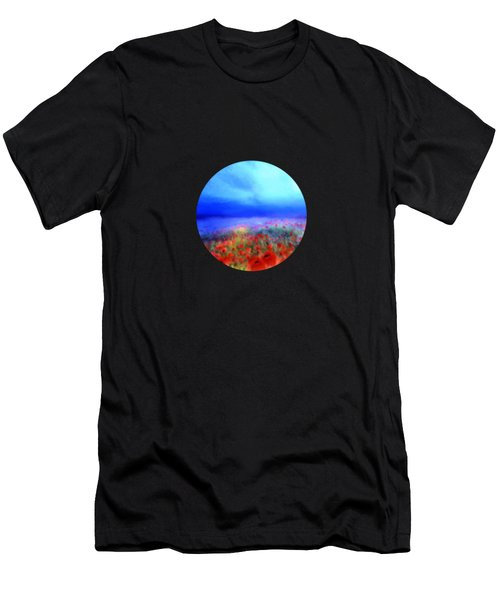 Poppies In The Mist Men's T-Shirt (Athletic Fit)