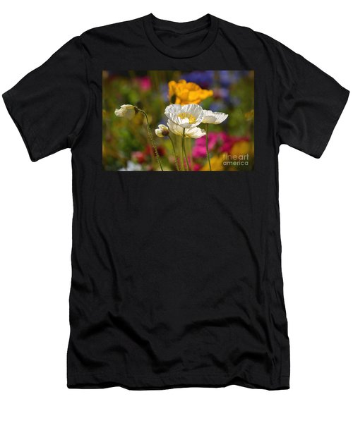 Poppies In The Spring Men's T-Shirt (Athletic Fit)