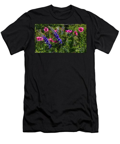 Poppies Men's T-Shirt (Slim Fit) by Lisa L Silva