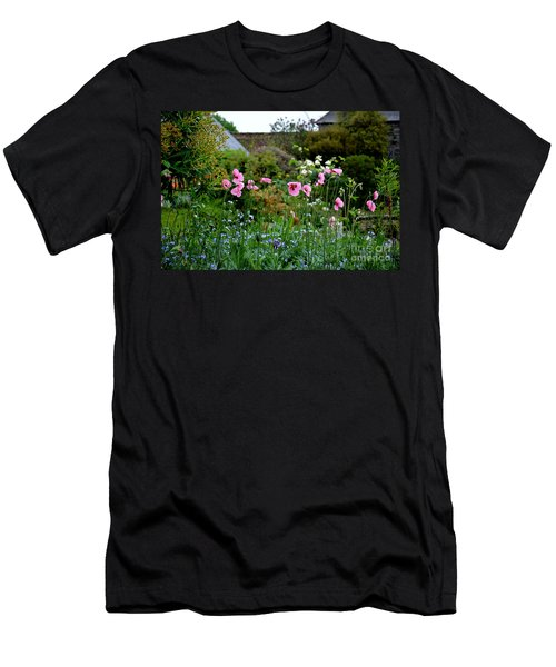 Poppies Of The Great Dixter Men's T-Shirt (Slim Fit) by Tanya Searcy