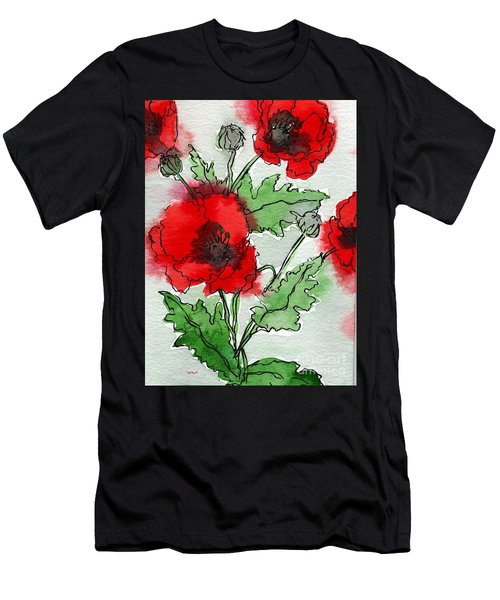 Poppies Popped Men's T-Shirt (Athletic Fit)