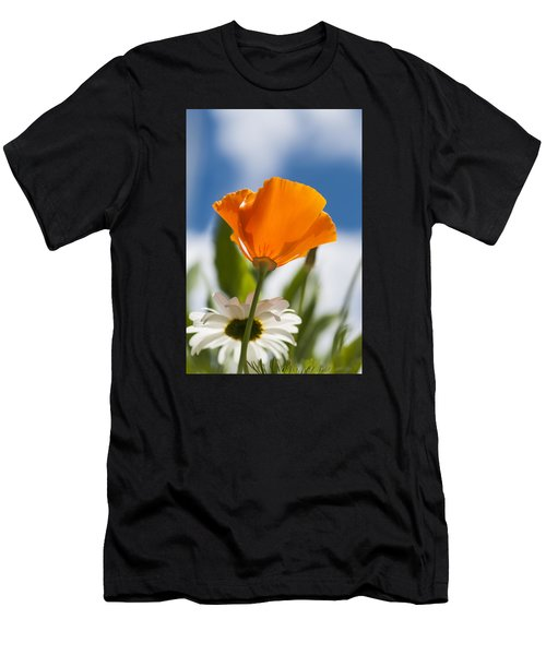 Poppy And Daisies Men's T-Shirt (Athletic Fit)