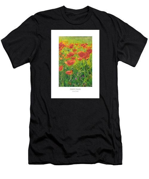 Men's T-Shirt (Athletic Fit) featuring the digital art Poppy Field by Julian Perry