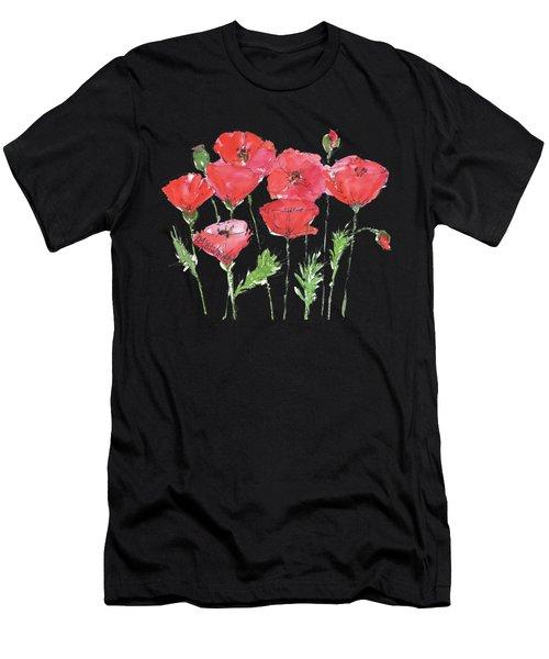 Poppy Garden Men's T-Shirt (Athletic Fit)