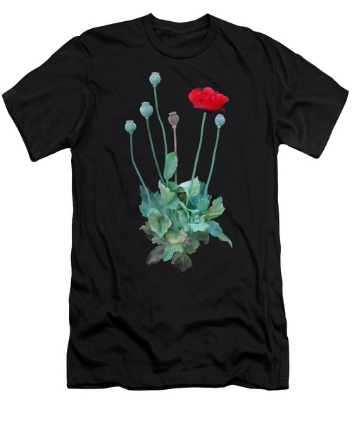 Men's T-Shirt (Athletic Fit) featuring the painting Poppy by Ivana Westin