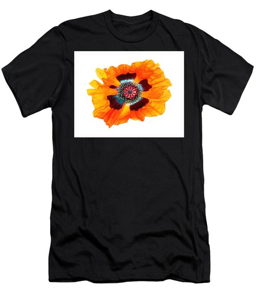 Men's T-Shirt (Athletic Fit) featuring the photograph Poppy Pleasing by Roger Bester