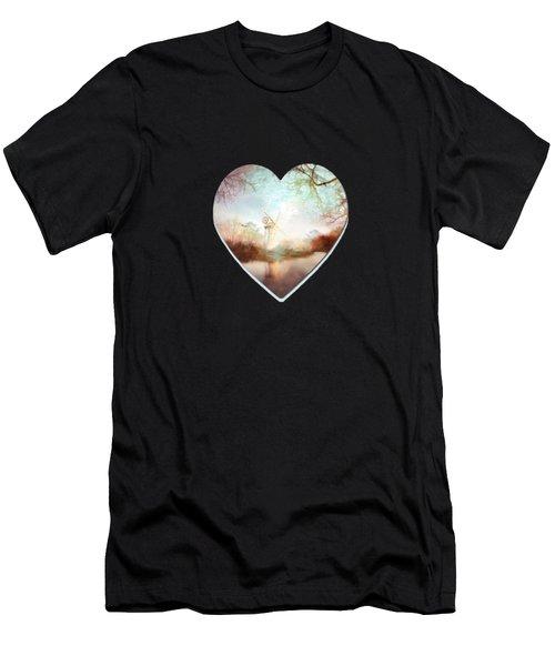 Porcelain Skies Men's T-Shirt (Athletic Fit)