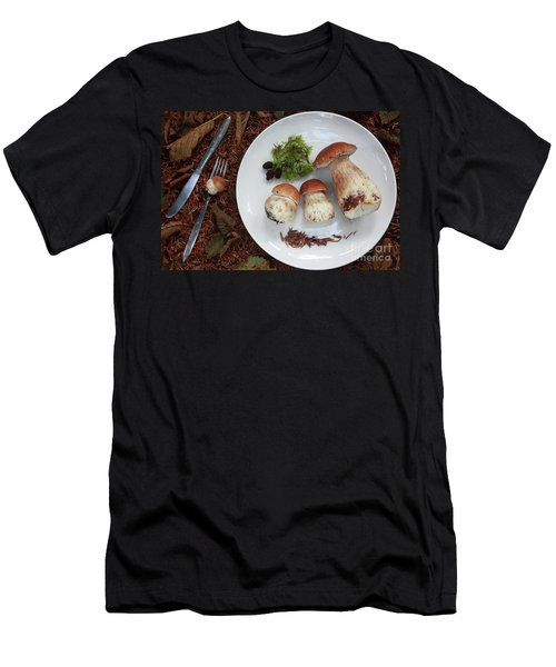 Porcini Mushrooms Men's T-Shirt (Athletic Fit)