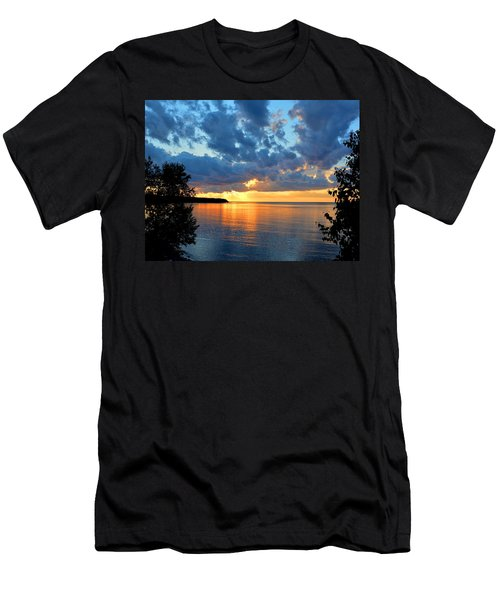 Porcupine Mountains Sunset Men's T-Shirt (Slim Fit) by Keith Stokes