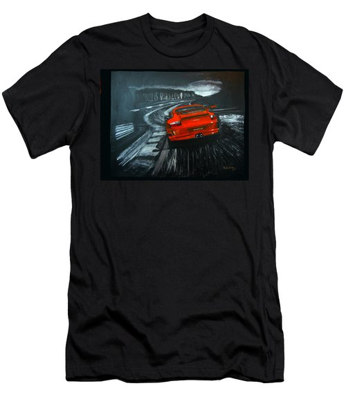 Men's T-Shirt (Athletic Fit) featuring the painting Porsche Gt3 Le Mans by Richard Le Page