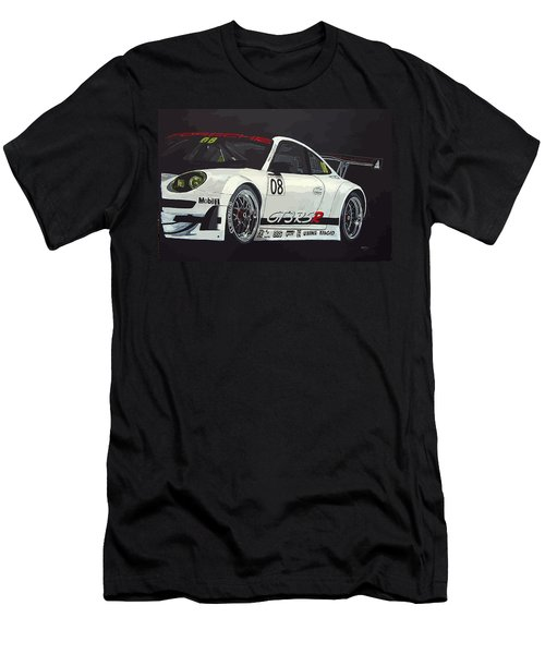 Men's T-Shirt (Athletic Fit) featuring the painting Porsche Gt3 Rsr by Richard Le Page