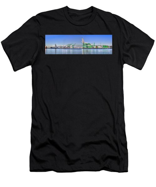 Port Of Los Angeles - Panoramic Men's T-Shirt (Athletic Fit)