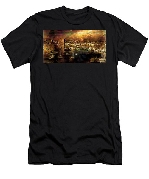 The Old Port Of Marseille Men's T-Shirt (Athletic Fit)