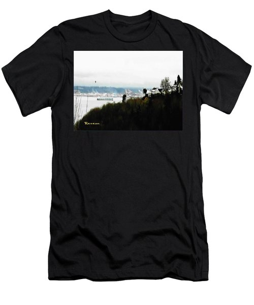 Men's T-Shirt (Slim Fit) featuring the photograph Port Of Tacoma At Ruston Wa by Sadie Reneau