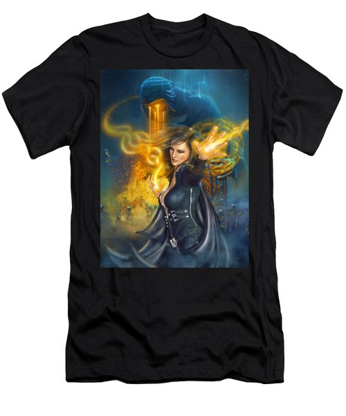 Men's T-Shirt (Athletic Fit) featuring the digital art Portal Magician by Uwe Jarling