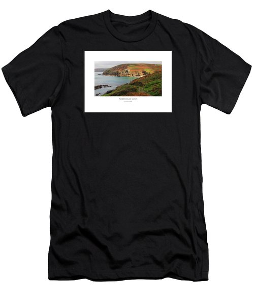Men's T-Shirt (Athletic Fit) featuring the digital art Portheras Cove by Julian Perry