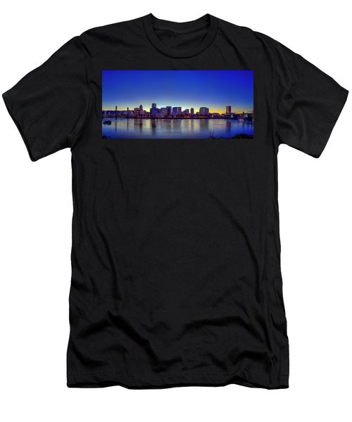 Portland Cityscape Men's T-Shirt (Athletic Fit)