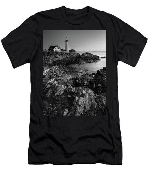 Portland Head Light At Dawn Men's T-Shirt (Athletic Fit)