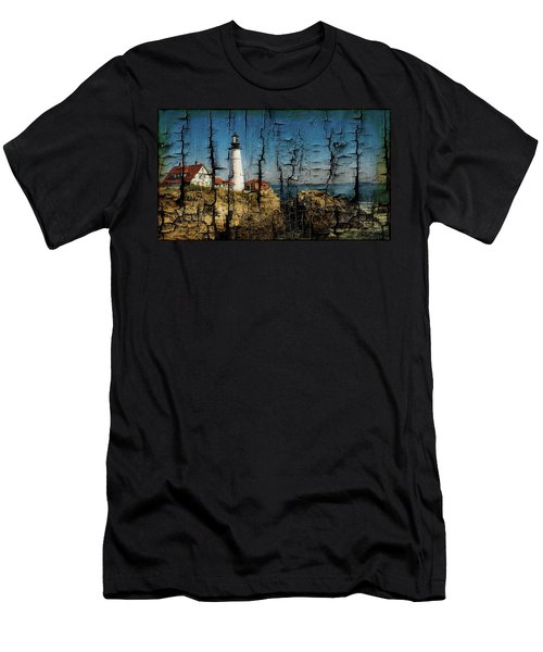 Portland Head Lighthouse 5 Men's T-Shirt (Slim Fit) by Sherman Perry