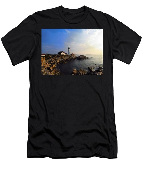 Portland Headlight Morning Glow Men's T-Shirt (Athletic Fit)