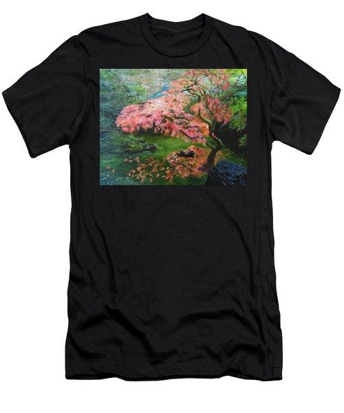 Portland Japanese Maple Men's T-Shirt (Slim Fit) by LaVonne Hand