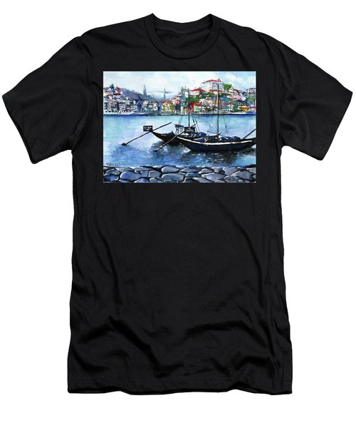 Porto Rabelo Boats Men's T-Shirt (Athletic Fit)