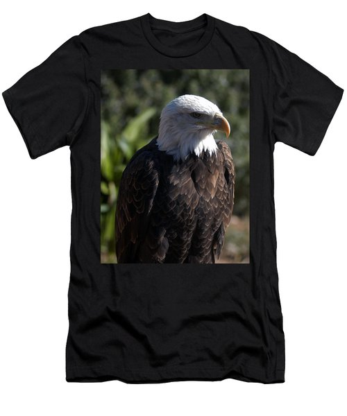 Portrait Bald Eagle  Men's T-Shirt (Athletic Fit)