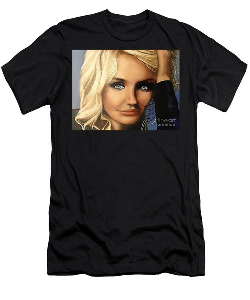 Cameron Diaz Portrait  Men's T-Shirt (Athletic Fit)