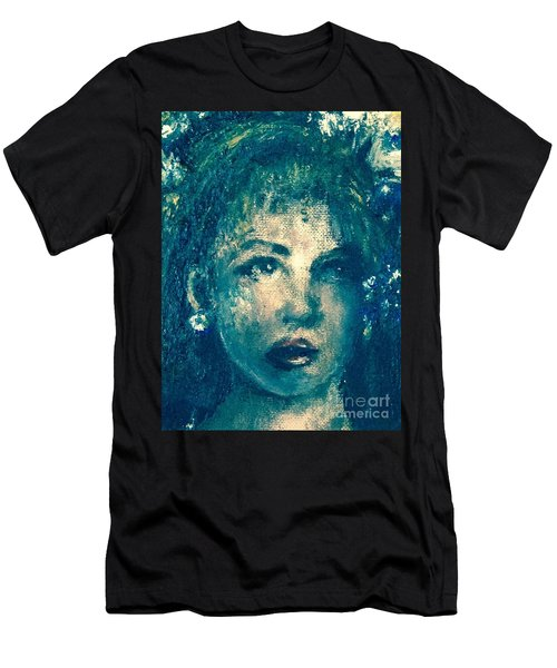 Men's T-Shirt (Athletic Fit) featuring the photograph Portrait In Blue by Laurie Lundquist