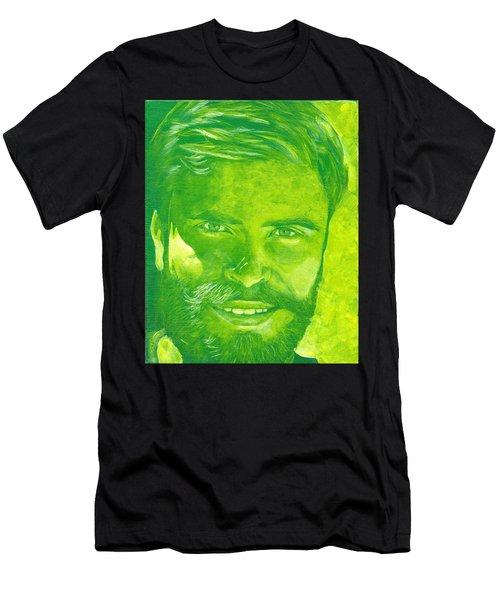Portrait In Green Men's T-Shirt (Athletic Fit)