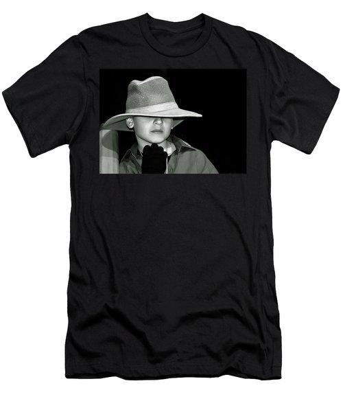 Portrait Of A Boy With A Hat Men's T-Shirt (Athletic Fit)