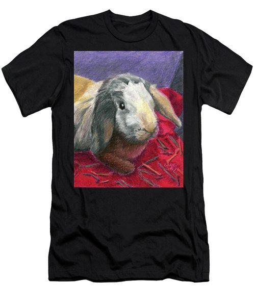 Portrait Of A Bunny Men's T-Shirt (Athletic Fit)