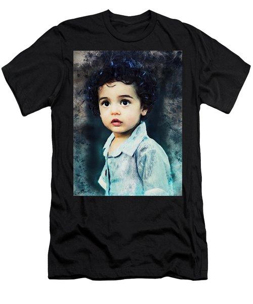 Portrait Of A Child Men's T-Shirt (Athletic Fit)