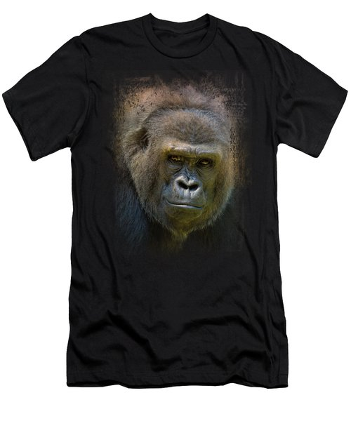 Portrait Of A Gorilla Men's T-Shirt (Slim Fit) by Jai Johnson