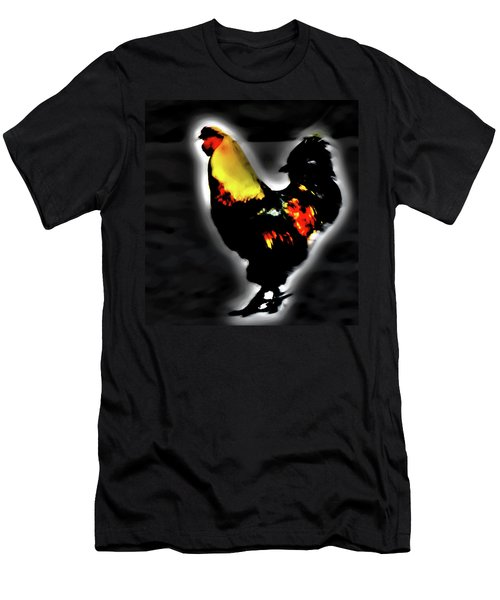 Portrait Of A Rooster Men's T-Shirt (Athletic Fit)