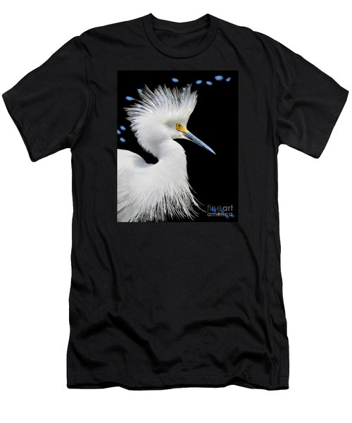 Portrait Of A Snowy White Egret Men's T-Shirt (Athletic Fit)