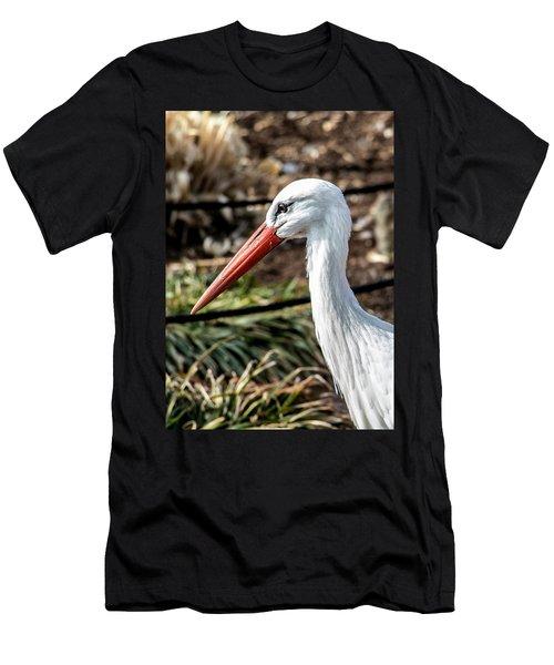 Portrait Of A Stork Men's T-Shirt (Athletic Fit)