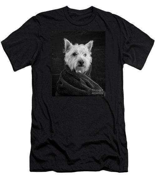 Portrait Of A Westie Dog Men's T-Shirt (Athletic Fit)