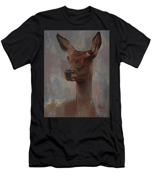 Portrait Of A Young Doe Men's T-Shirt (Athletic Fit)