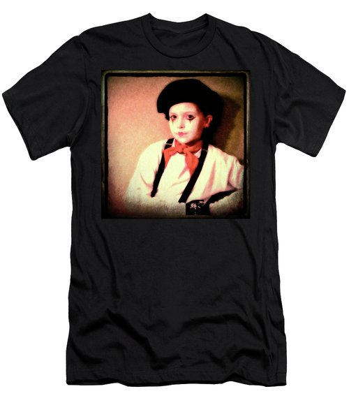 Portrait Of A Young Mime Men's T-Shirt (Athletic Fit)
