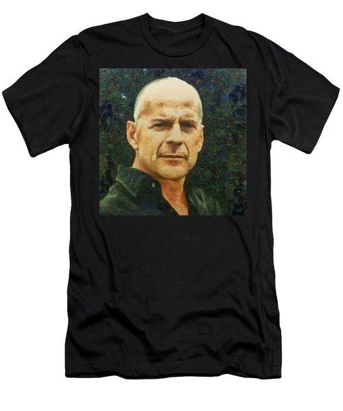 Portrait Of Bruce Willis Men's T-Shirt (Athletic Fit)