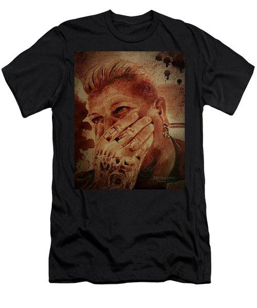 Portrait Of Chris Kross Men's T-Shirt (Athletic Fit)