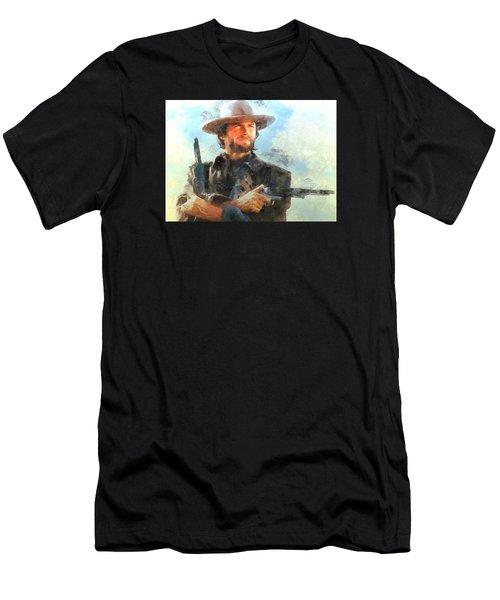 Portrait Of Clint Eastwood Men's T-Shirt (Athletic Fit)