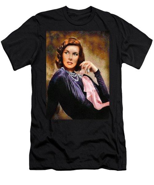 Portrait Of Katherine Hepburn Men's T-Shirt (Athletic Fit)