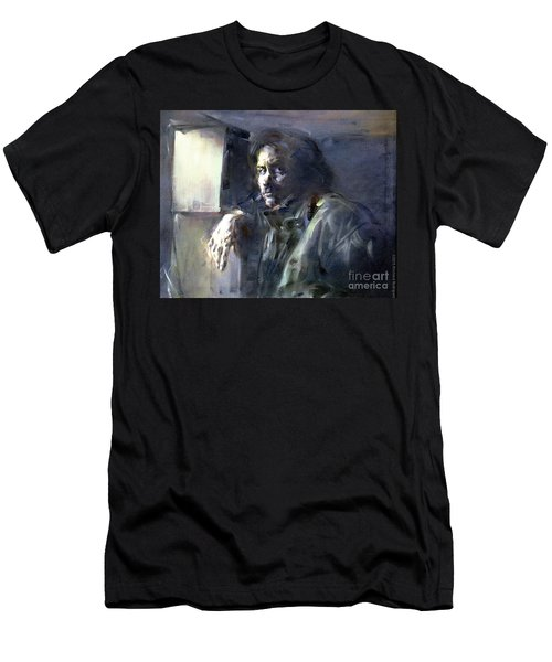 Portrait Of Kip Hanrahan - At The 11th Street Studio, Nyc - Men's T-Shirt (Athletic Fit)