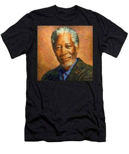 Portrait Of Morgan Freeman Men's T-Shirt (Athletic Fit)