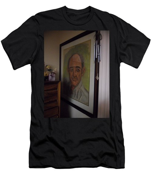 Portrait Of My Dad Men's T-Shirt (Athletic Fit)