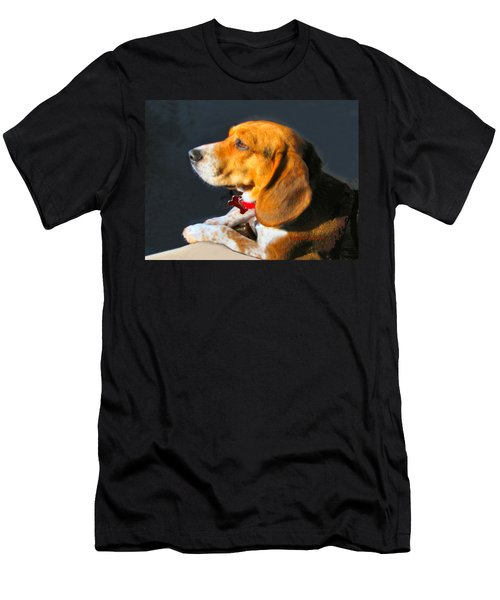 Portrait Of Pebbles - The Independent Beagle Men's T-Shirt (Athletic Fit)