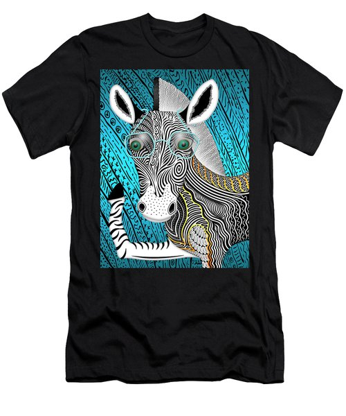 Portrait Of The Artist As A Young Zebra Men's T-Shirt (Athletic Fit)